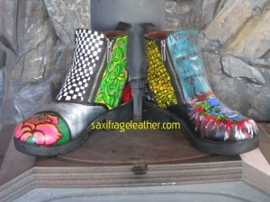 Painted Harley booties
