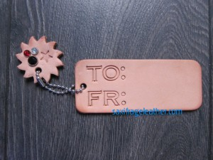 Keepsake gift tag with sun charm