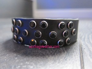 Bling wristband (two varying version, one black, one red)